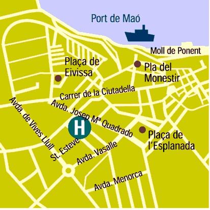 Plano de acceso de Hotel Capri
