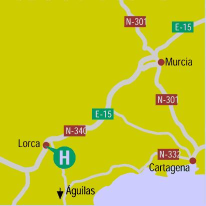 Plano de acceso de Hotel Jardines De Lorca