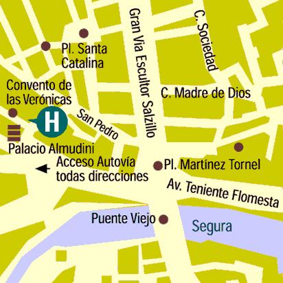 Plano de acceso de Hotel Zenit Murcia