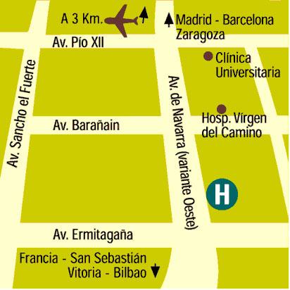Plano de acceso de Hotel Albret
