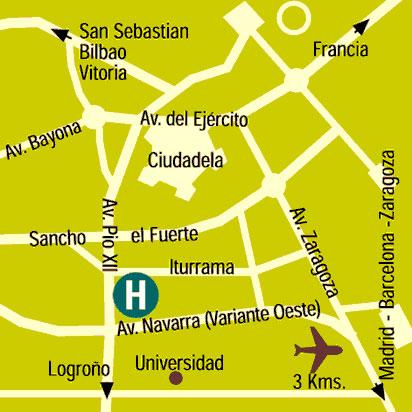 Plano de acceso de Hotel Blanca De Navarra