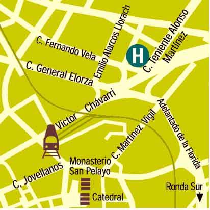Plano de acceso de Aparthotel Campus