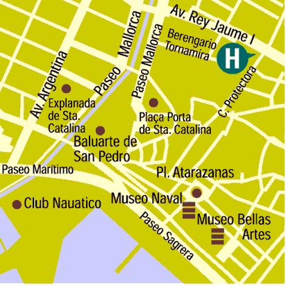Plano de acceso de Hotel Almudaina
