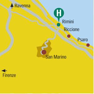 Plano de acceso de Duomo Hotel
