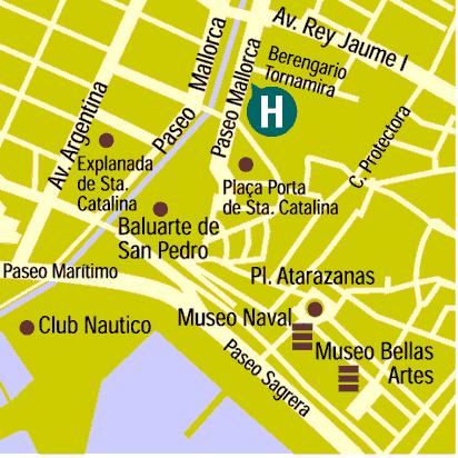 Plano de acceso de Hotel Saratoga