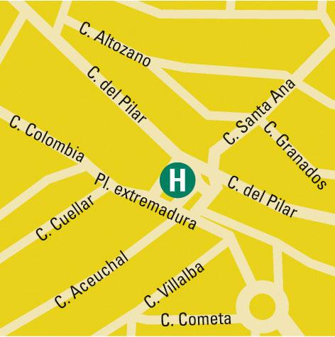Plano de acceso de Hotel Acosta Centro