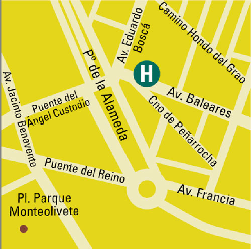 Plano de acceso de Hotel Beatriz Rey Don Jaime