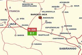 Plano de acceso de Hotel Barcelo Jaca