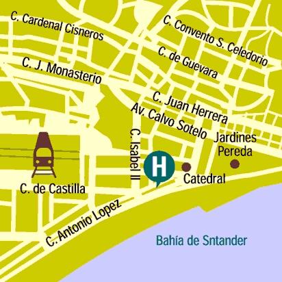 Plano de acceso de Hotel Bahia