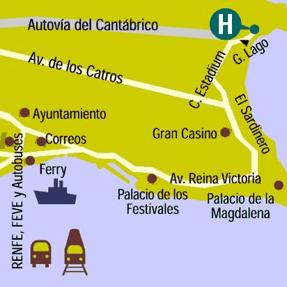 Plano de acceso de Hotel Chiqui
