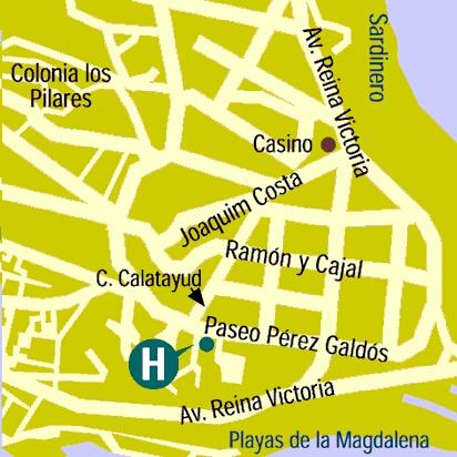Plano de acceso de Hotel Real