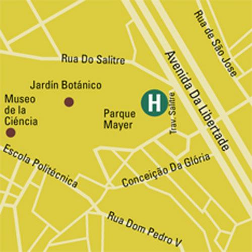 Plano de acceso de Hotel Lisboa Plaza