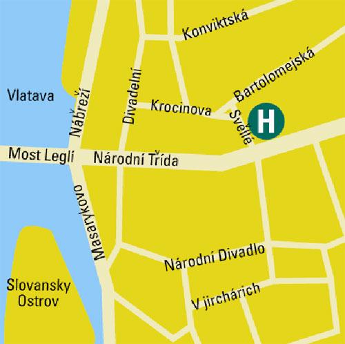 Plano de acceso de Hotel Eurostars Thalia