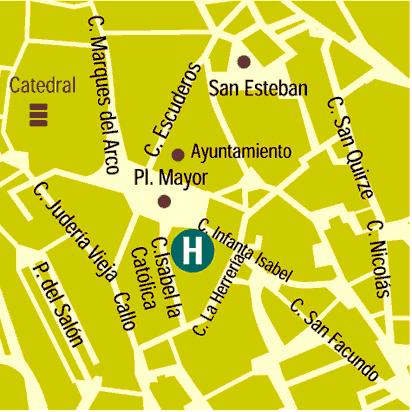 Plano de acceso de Hotel Infanta Isabel