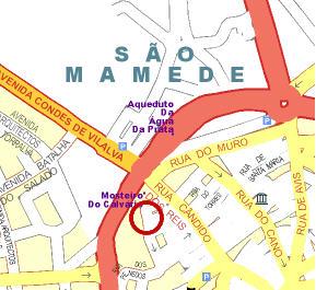 Plano de acceso de Hotel Albergaria Do Calvario