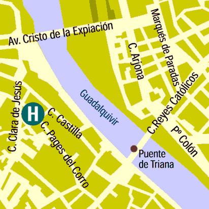 Plano de acceso de Hotel Monte Triana