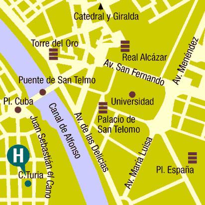 Plano de acceso de Hotel Monte Carmelo