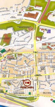 Plano de acceso de Hotel Isidro Setubal
