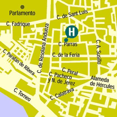 Plano de acceso de Hotel San Gil