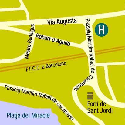 Plano de acceso de Hotel Astari