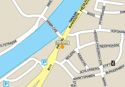 Plano de acceso de Hotel Innsbruck