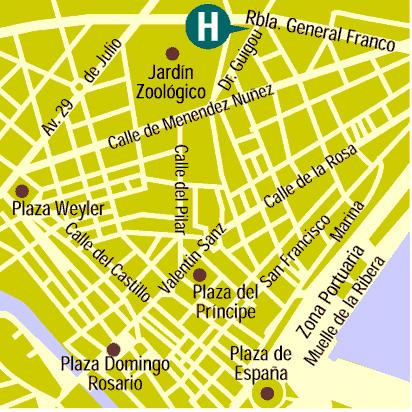 Plano de acceso de Hotel Contemporaneo