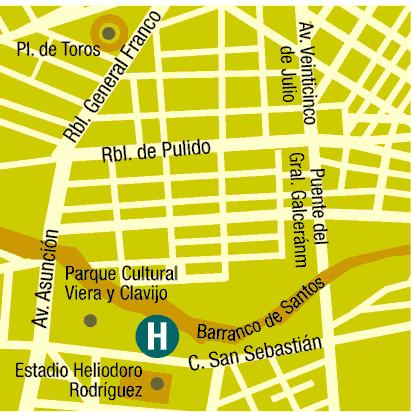 Plano de acceso de Hotel Escuela Santa Cruz