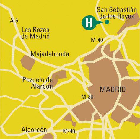 Plano de acceso de Hotel Arturo Norte
