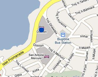 Plano de acceso de Dolmen Resort Hotel