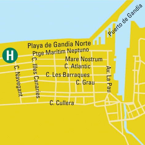 Plano de acceso de Hotel Bayren