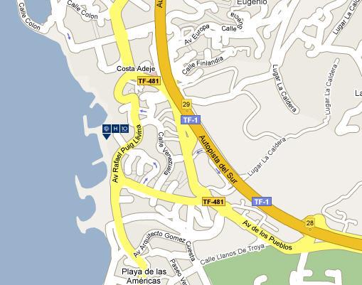Plano de acceso de Hotel H10 Gran Tinerife