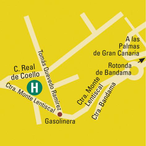 Plano de acceso de Hotel Escuela Santa Brigida