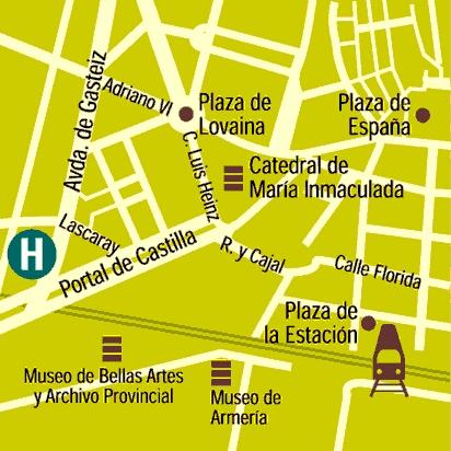 Plano de acceso de Barcelo Hotel Gasteiz