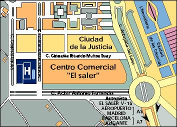 Plano de acceso de Hotel Holiday Inn Ciudad De Las Ciencias.