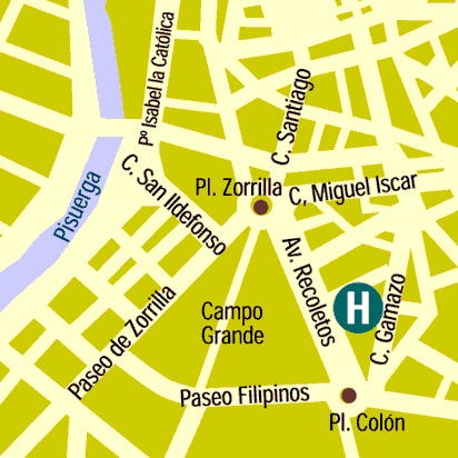 Plano de acceso de Hotel Felipe Iv