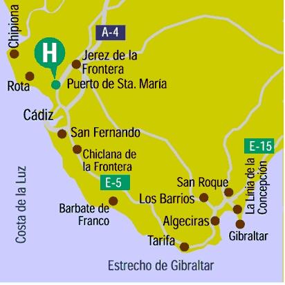 Plano de acceso de Hotel Los Cantaros