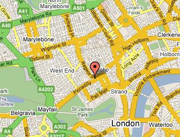 Plano de acceso de Hotel Le Meridien Piccadilly