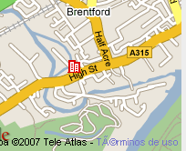 Plano de acceso de Hotel Holiday Inn London Brentford Lock