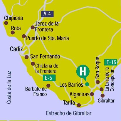Plano de acceso de Hotel Guadacorte Park