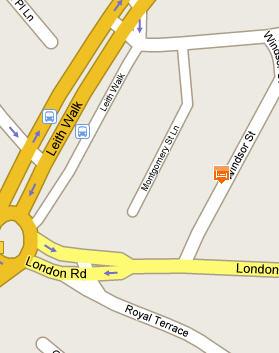 Plano de acceso de Cairn Hotel