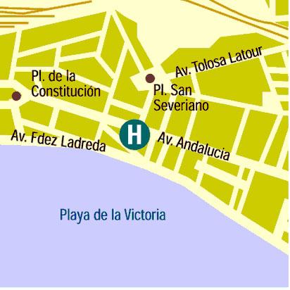 Plano de acceso de Hotel Monte Puertatierra
