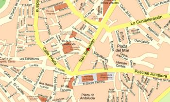 Plano de acceso de Hotel Tres Jotas