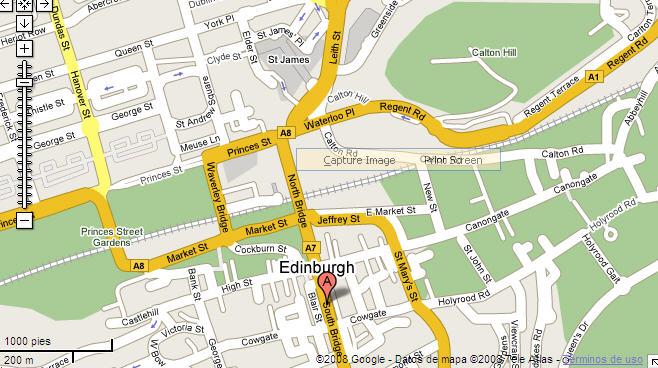Plano de acceso de Barcelo Edinburgh Carlton Hotel