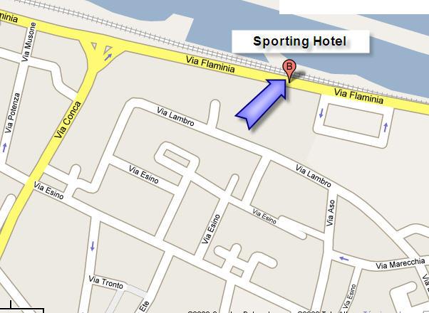 Plano de acceso de Sporting Hotel