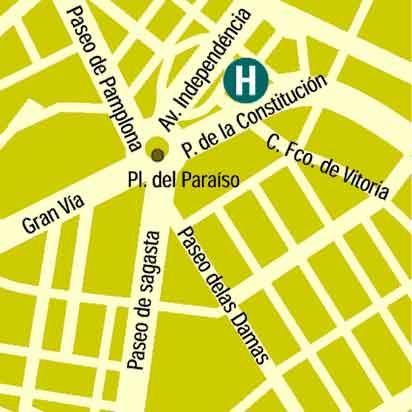 Plano de acceso de Hotel Zenit Don Yo