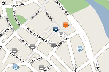 Plano de acceso de Riga Hotel