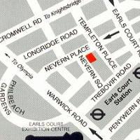 Plano de acceso de Kensington Court Hotel