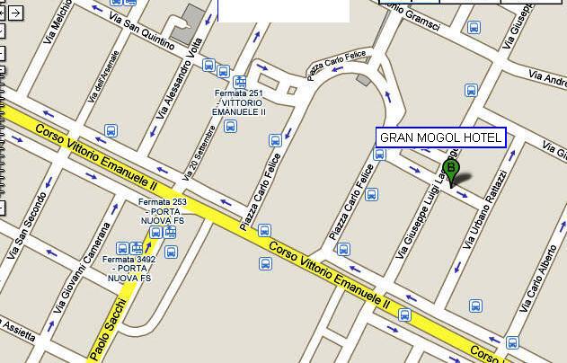 Plano de acceso de Hotel Gran Mogol