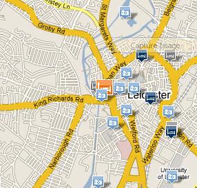 Plano de acceso de Hotel Holiday Inn Leicester City