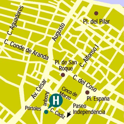 Plano de acceso de Hotel Palafox